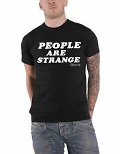 The Doors T Shirt People Are Strange text band logo new Official Mens Black