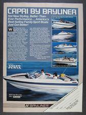 1985 Bayliner Capri Bowrider & Cuddy Boats photos vintage print Ad