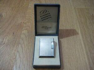 S.T Dupont Feuerzeug Lighter Silber Linie 1 Komplett Überholt Full Set