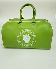 Large Ladies sports/Gym/Kit/Travel Bag Apple Green and White Free Wallet