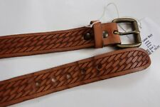CEINTURE  EDWIN  LASER BELT LEATHER  WASHED BROWN TAILLE XS  80 cm