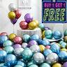 "10 or 20 CHROME BALLOONS 12"" METALLIC LATEX PEARL Helium Baloon Birthday Party"