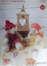 Stylecraft DK Toy Knitting pattern sleepy sheep  sheep hat 9356