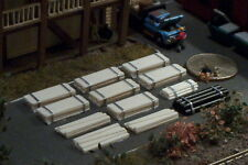 12 Stacks of Lumber and Pipes N Scale Details