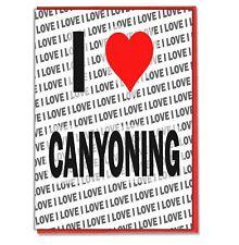 Greeting Card - Birthday Card - I Love Canyoning