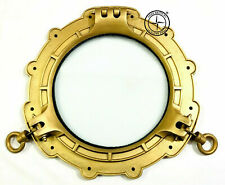 "Vintage Aluminium Brass Antique Porthole 15"" Nautical Ship Window Porthole Decor"
