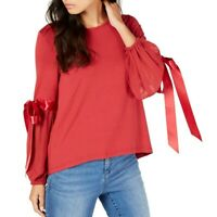 VINCE CAMUTO NEW Women's Ribbon Tie-sleeve Blouse Shirt Top TEDO