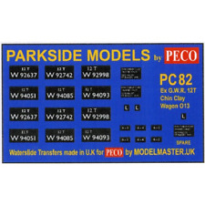 Modelmaster MMPC82 Transfers for ex G.W.R. China Clay Open Wagon