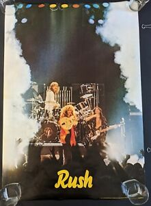 1978 LARGE VINTAGE RUSH BAND POSTER - Original Concert - IN ORIGINAL SLEEVE