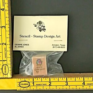 Stampendous Rubber Stamp AA052 Hand Stamped by 1997