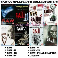 SAW - 1-8 The Final Cut Complete Collection 1 2 3 4 5 6 7 + JIGSAW (DVD x 9)