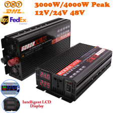 1500W 3000W 2000W 4000W Pure Sine Wave Inverter 12V 24V 48V to 240V LCD Display