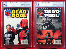 DEADPOOL vs. PUNISHER #54 & #55 (2001, Marvel) both PGX (not CGC) 9.8 NM/MT HTF!
