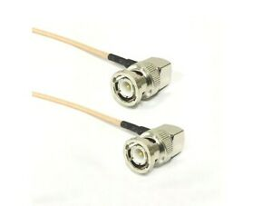 BNC male RA to BNC plug right angle pigtail coax cable RG316 50cm