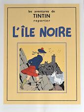 """TINTIN . SERIGRAPHIE - Couverture """" L' ILE NOIRE """""""