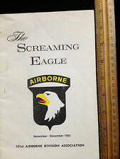 The Screaming Eagle 101st Airborne Division Association Nov 1982 reunion booklet