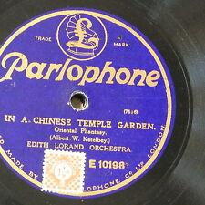 "78rpm 12"" Edith LORAND ORCH ketelby Chinese Temple Garden/Heiligtum Herz"