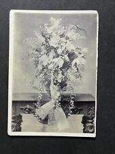 Victorian Photo: Cabinet Card: Floral Display