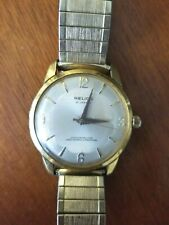 RARE VINTAGE HELIOS 21 JEWELS MANUAL WIND WATCH W/ 10K GF BAND RECENTLY SERVICED