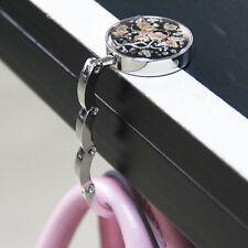 Plum Flower Pattern Folding Bag Purse Alloy Handbag Hanger Hook Holder·NEW Sell