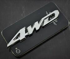 AU Metal Chrome Silver Color 4WD 3D Car Auto Badge Emblem Sticker Decal 4X4 11cm