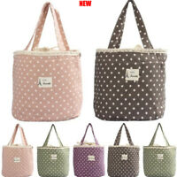 Portable Picnic Storage Bag Thermal Cooler Insulated Lunch Carry Tote Container