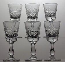 "ROYAL BRIERLEY CRYSTAL CUT ""BRUCE"" CUT LIQUEUR GLASSES SET OF 6-SIGNED"