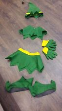 Elf Costumes/ Accessories Job Lot x 6 Children 4-6 Ex Costume Hire (Used Once)