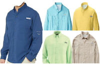 NEW COLUMBIA MEN PFG TAMIAMI II LONG SLEEVE SHIRTS
