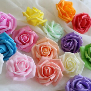 100-500PCS 4cm/6cm/7cm PE Foam Roses Flower Wedding Decor Bridal Garland DIY