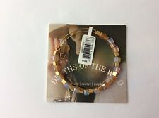 Alex and Ani Depths Of The Wild Golden Beaded Bangle Bracelet R Gold NWT Box