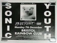 SONIC YOUTH Rainbow Club Bristol UK 1992 CONCERT POSTER Pavement MINTY! Thurston