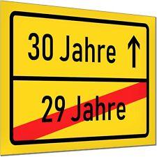 30 Geburtstag Deko Geschenk Verkehrsschild Schild Jubiläum Party Mann Frau