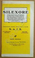 Materiali edili - pubblicità - S.A.I.S. - Silexore - Milano - anni '30 / '40