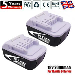 2X Makita Battery 18V G-Series BL1813G 1815G 1820G 1811G TD127D HP457D 195608-4
