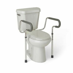 Medline's Guardian Toilet Safety Rail with Adjustable Height for Bathroom