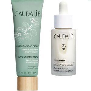 Caudalie Duo 10ml Vinoperfect Radiance Serum & 15ml Instant Detox Mask RRP £25+