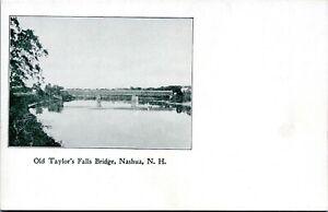 Nashua New Hampshire Postcard 1905 Old Taylors Falls Bridge MT