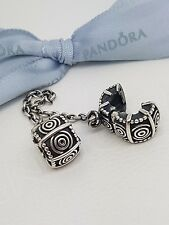Authentic Pandora Sterling Silver Clip On Safety Chain 790583