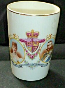 Rare Antique King George V & Queen Mary Coronation Beaker 1911