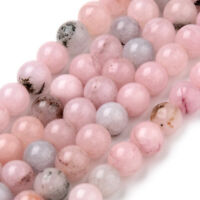 Strand 47+ 8mm Natural Cherry Blossom Jasper Round Beads UK