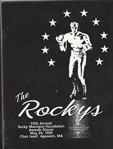 "ROCKY MARCIANO  ""ROCKYS"" 1993 PROGRAM HONORING VINNY PAZIANA & WILLIE PEP"