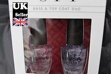 OPI Nail Polish Boxed Top Coat & Base Coat 2 Bottle Set 15ml