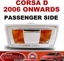 VAUXHALL CORSA D 2006> SIDE REPEATER WING INDICATOR PASSENGER NEAR SIDE SRI SXI