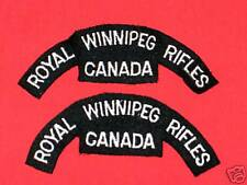 ROYAL WINNIPEG RIFLES CANADA Cloth Shoulder Flashes