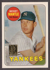 1996 Topps MICKEY MANTLE #19 SP of 19 1969 Topps LAST CARD All his Stats Reprint