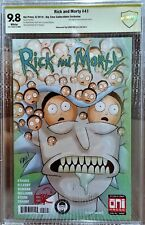 Rick and Morty #41, BTC Variant, CBCS 9.8 NM/MT, Signed by Chris Rau, Only 1500!