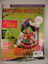 Cross Stitch & Needlework Magazine September 2014 Halloween Owl Quintet New
