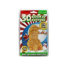 Cookie Creations 3D Cookie Cutter Set, Make A Standing SANTA, DIY Christmas