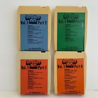 The Beatles Alpha Omega Vol 1 (Set Of 4)8 Track Tapes Original 1972 Rare! TESTED